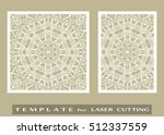 abstract cutout panels set for... | Shutterstock .eps vector #512337559