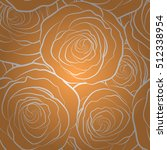 yellow flower petals silhouette ... | Shutterstock .eps vector #512338954