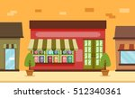 storefront illustration... | Shutterstock .eps vector #512340361