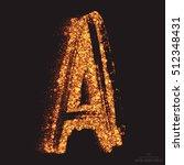 vector grungy font 001. letter... | Shutterstock .eps vector #512348431