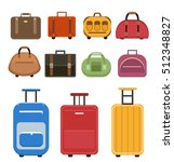 travel bags icon set  flat...   Shutterstock .eps vector #512348827