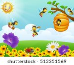 vector illustration of bees... | Shutterstock .eps vector #512351569