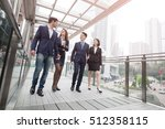 businesspeople meeting in... | Shutterstock . vector #512358115