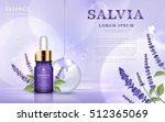 salvia cosmetic ads  essence... | Shutterstock .eps vector #512365069