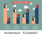 aging population with worker... | Shutterstock .eps vector #512366467