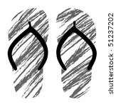grunge vector slippers | Shutterstock .eps vector #51237202