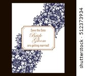 invitation with floral... | Shutterstock . vector #512373934