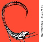 roller coaster | Shutterstock .eps vector #51237541
