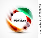 colorful abstract circle banner ... | Shutterstock .eps vector #512378359