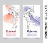 taekwondo banners. | Shutterstock .eps vector #512379541