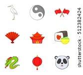 china icons set. cartoon...   Shutterstock .eps vector #512382424