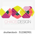 abstract background with round... | Shutterstock . vector #512382901