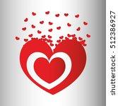 heart love icon vector... | Shutterstock .eps vector #512386927