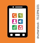 mobile app technology icon... | Shutterstock .eps vector #512396101