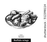 hand drawn sketch buffalo... | Shutterstock .eps vector #512398114