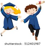 graduation ceremony with two...   Shutterstock .eps vector #512401987