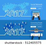 2017 new year business person... | Shutterstock .eps vector #512405575