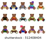children's colorful dial bears  | Shutterstock . vector #512408404