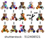 children's colorful set of... | Shutterstock . vector #512408521