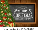 christmas background with... | Shutterstock .eps vector #512408905