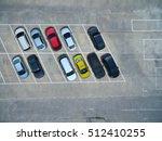 empty parking lots  aerial view. | Shutterstock . vector #512410255