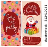 christmas party invitation with ... | Shutterstock .eps vector #512410261