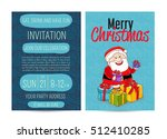 invitation on christmas party... | Shutterstock .eps vector #512410285