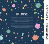 Cartoon Space Background With...