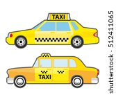 set of car taxi service  side... | Shutterstock .eps vector #512411065