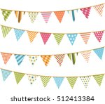 colorful bunting for decoration ... | Shutterstock .eps vector #512413384