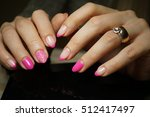 beautiful bright natural nails... | Shutterstock . vector #512417497