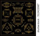 vector set of vintage elements... | Shutterstock .eps vector #512422087