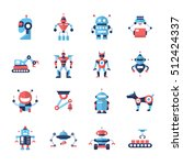 robots   set of modern vector... | Shutterstock .eps vector #512424337