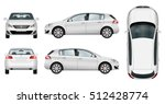 car vector template on white... | Shutterstock .eps vector #512428774