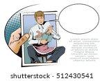 stock illustration. people in... | Shutterstock .eps vector #512430541
