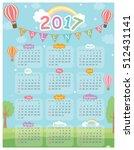 2017 twelve month calendar on... | Shutterstock .eps vector #512431141