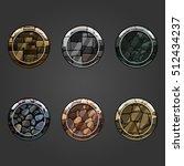 set of shiny stone  circle...