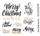 merry christmas and happy new... | Shutterstock .eps vector #512435599