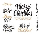merry christmas and happy new... | Shutterstock .eps vector #512435707