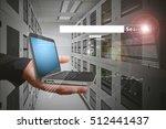 smart search in data center room | Shutterstock . vector #512441437
