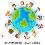 many children around the world... | Shutterstock .eps vector #512443561