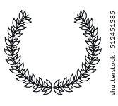 isolated leaves wreath design   Shutterstock .eps vector #512451385