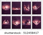 stock vector set of brochures... | Shutterstock .eps vector #512458417