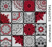hand drawn seamless patchwork... | Shutterstock .eps vector #512459341