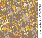 seamless flowers pattern | Shutterstock .eps vector #512463307