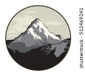 abstract mountain icon or sign  ... | Shutterstock .eps vector #512469241