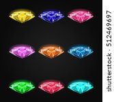 set of gems different icons.... | Shutterstock . vector #512469697