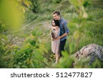 loving couple walking on the... | Shutterstock . vector #512477827