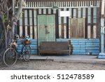 Vintage Wooden Wall With...