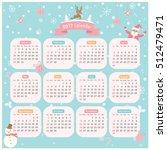 2017 twelve month calendar with ... | Shutterstock .eps vector #512479471